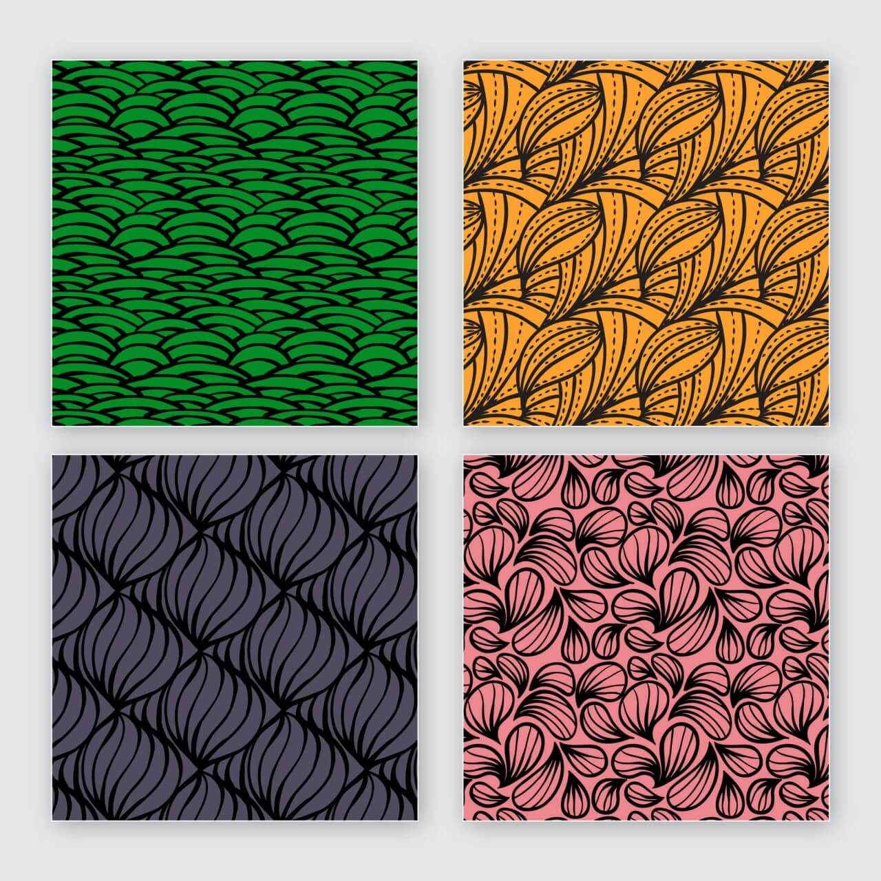 "Free vector ""Creative vector seamless patterns"""