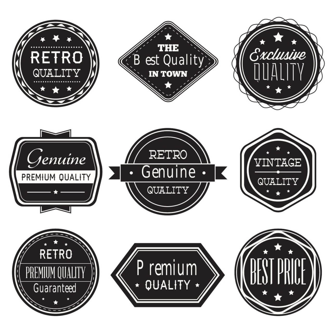 """Free vector """"Set of vintage retro labels,ribbons"""""""