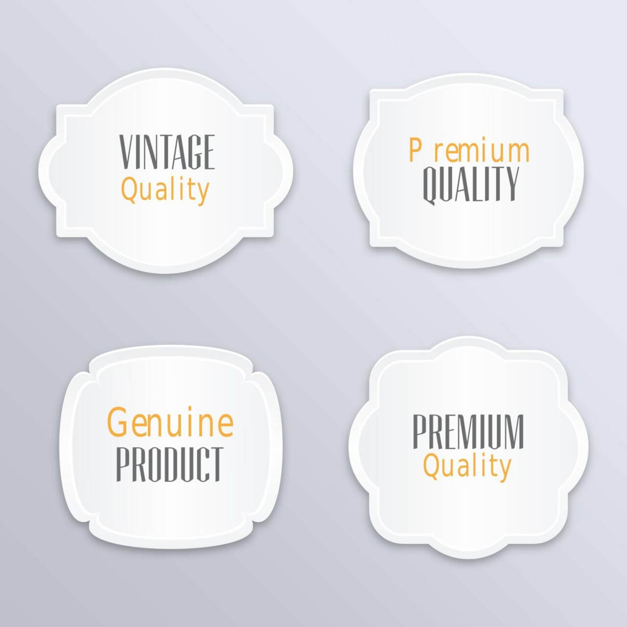 """Free vector """"Labels in vintage style"""""""