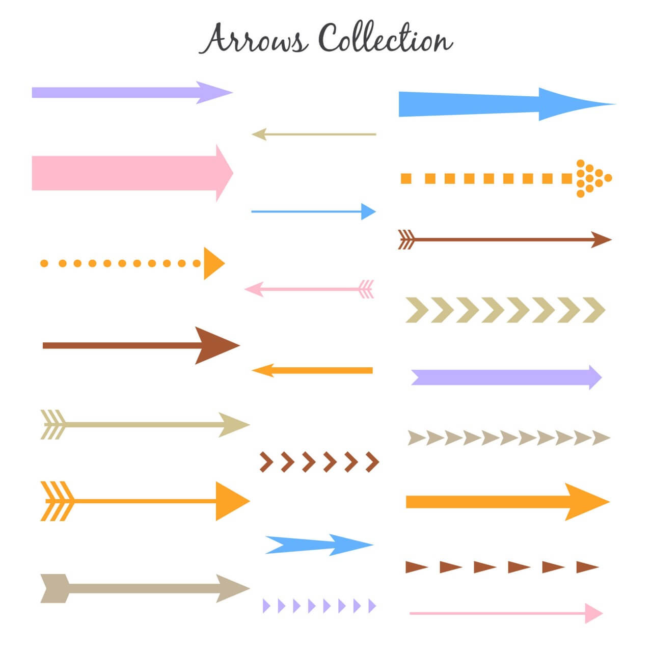 "Free vector ""Set of colorful vector arrows"""