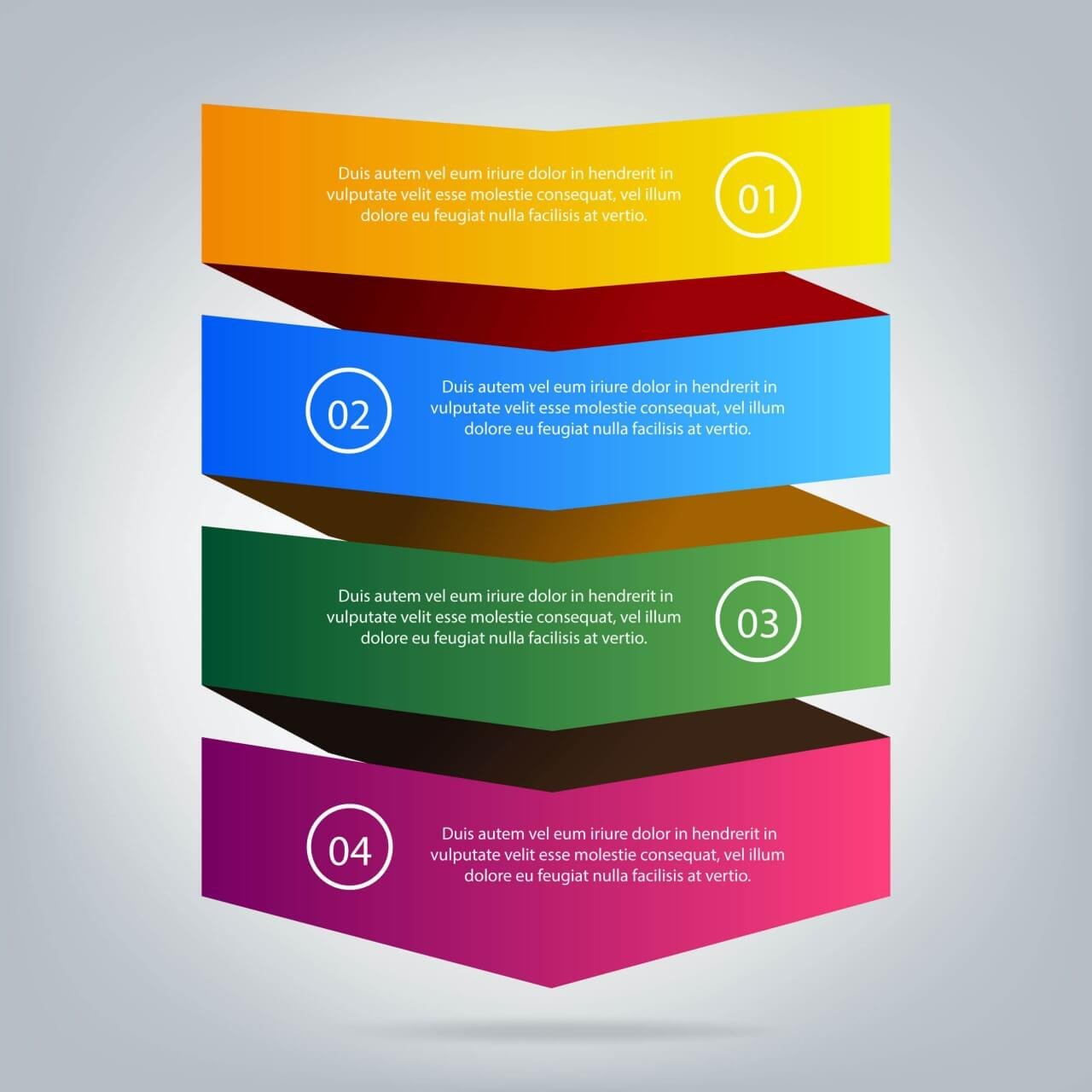 """Free vector """"Business infographic template"""""""