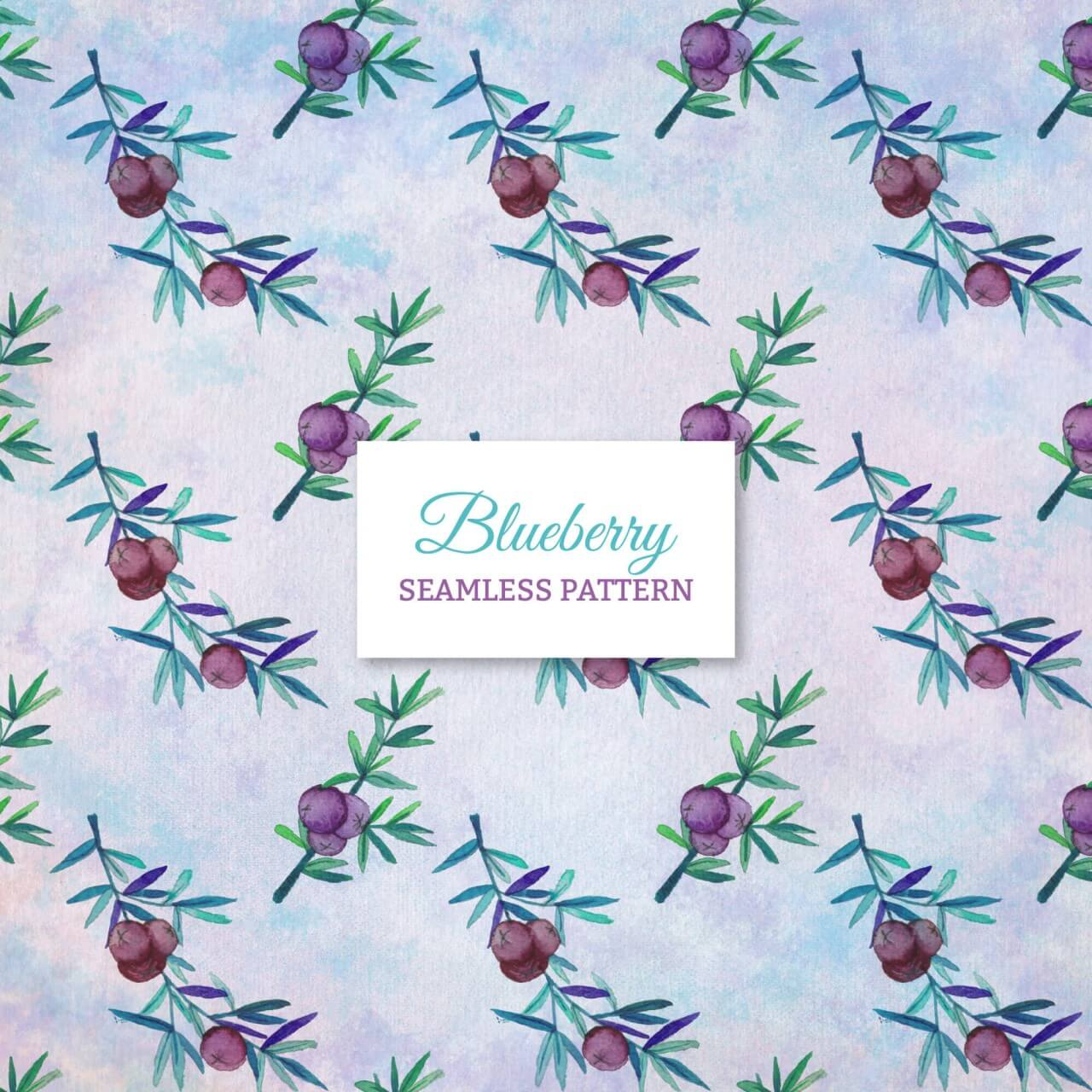 """Free vector """"Blueberry seamless pattern"""""""