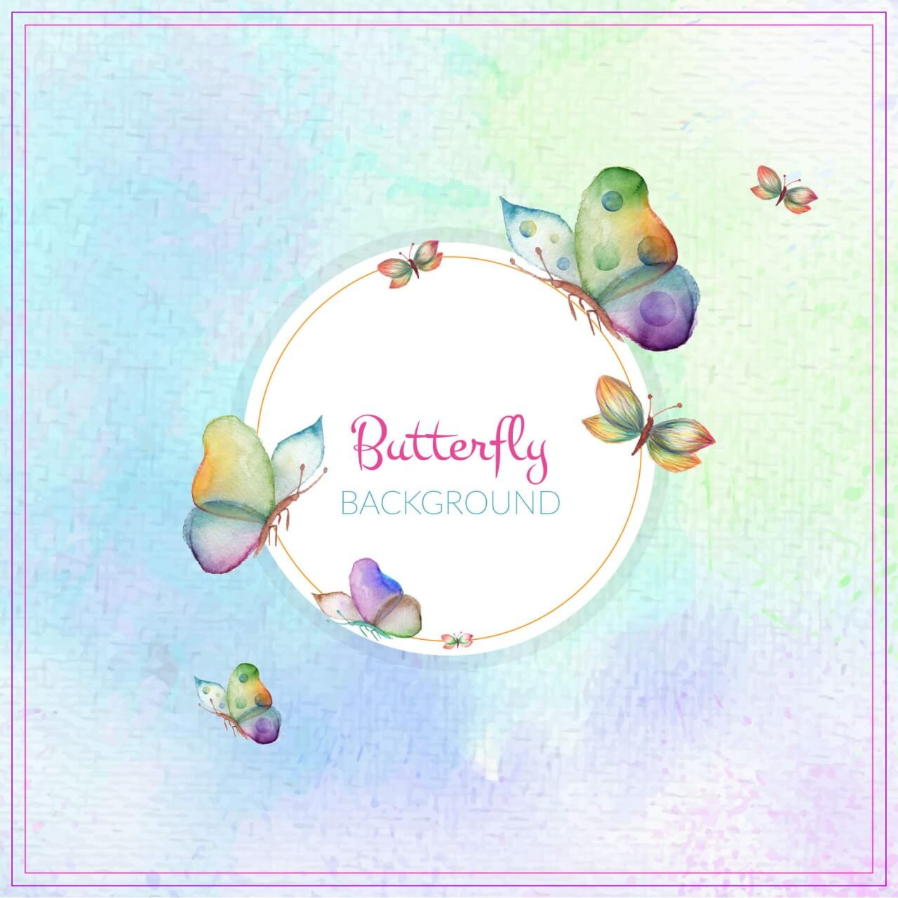 """Free vector """"Abstract butterfly background"""""""