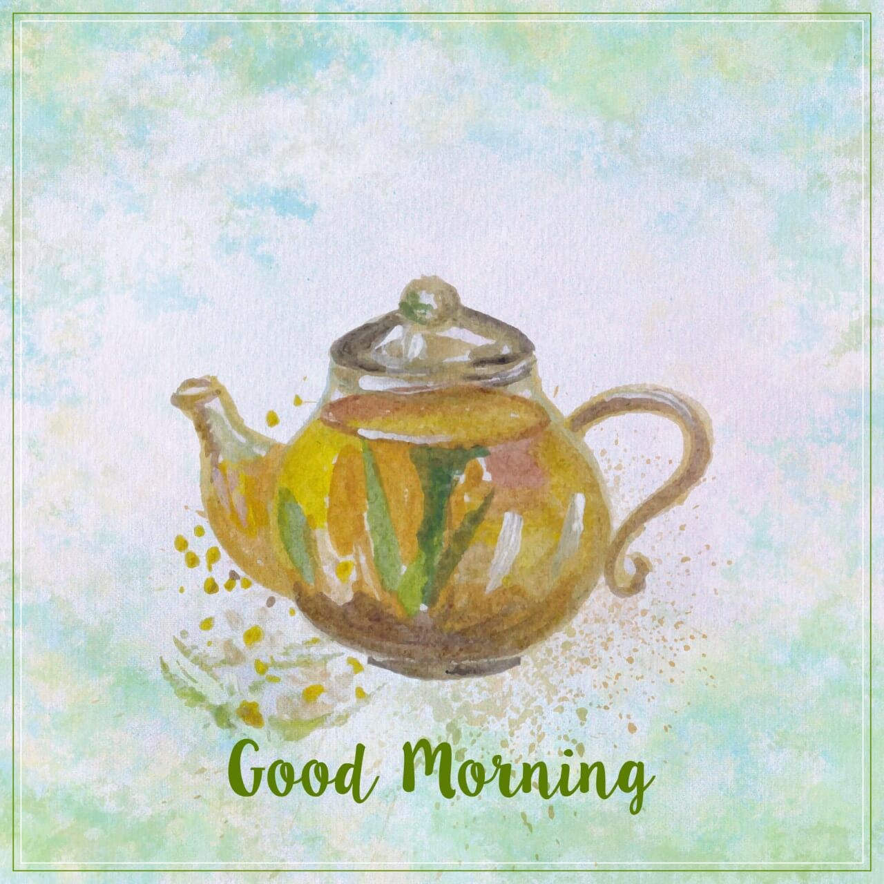 "Free vector ""Watercolor teapot illustration. Watercolor hand drawn painted teapot"""