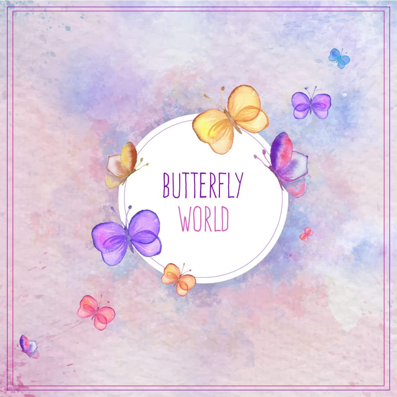 """Free vector """"Watercolor butterfly card"""""""