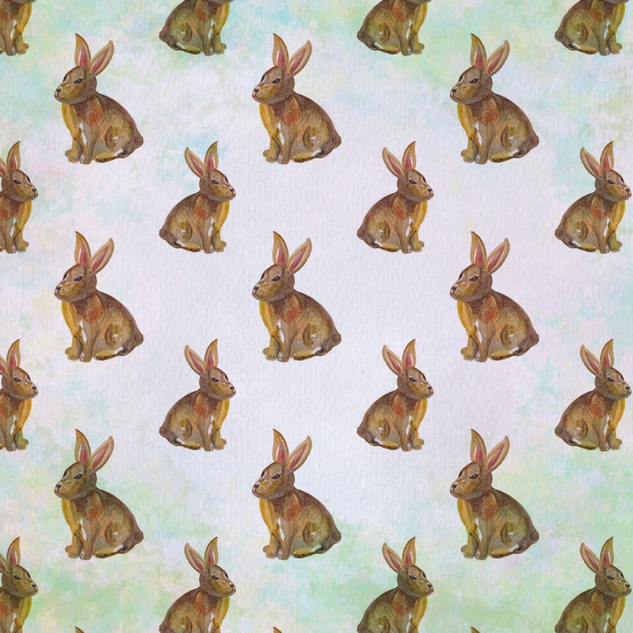 """Free vector """"Seamless pattern with watercolor rabbits"""""""