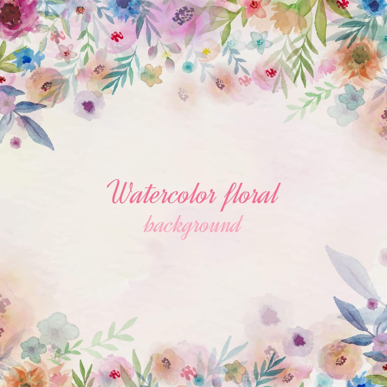 "Free vector ""Watercolor flowers illustration"""