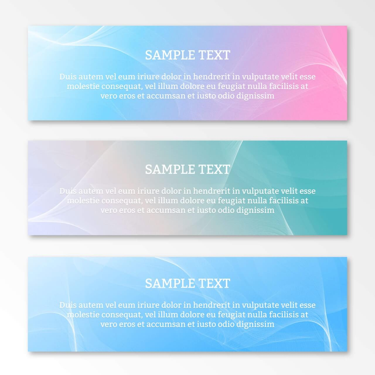 "Free vector ""Abstract waves banner or header"""