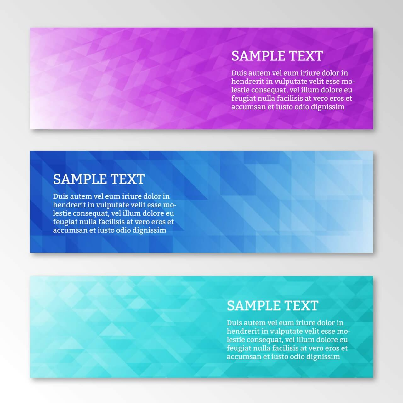 "Free vector ""Abstract business geometric banners set"""