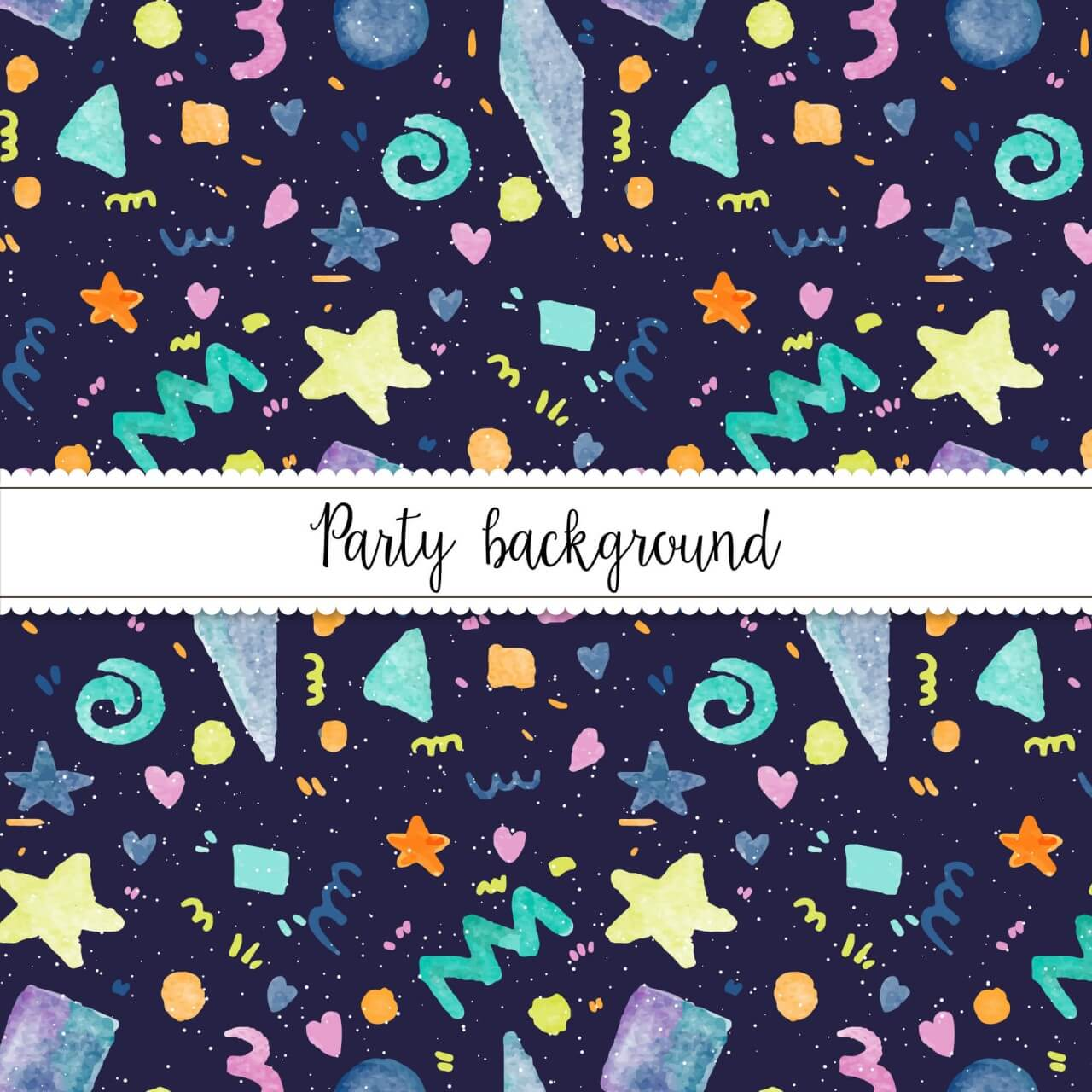 "Free vector ""Watercolor Party Background"""