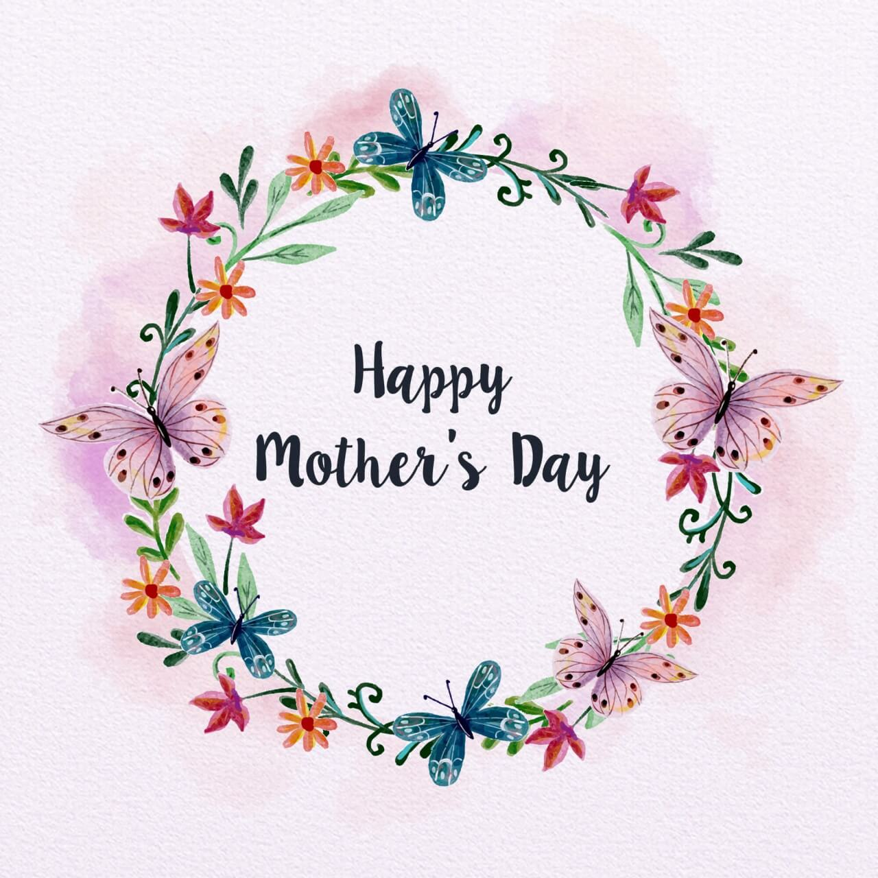 "Free vector ""Watercolor Mother's Day Card"""