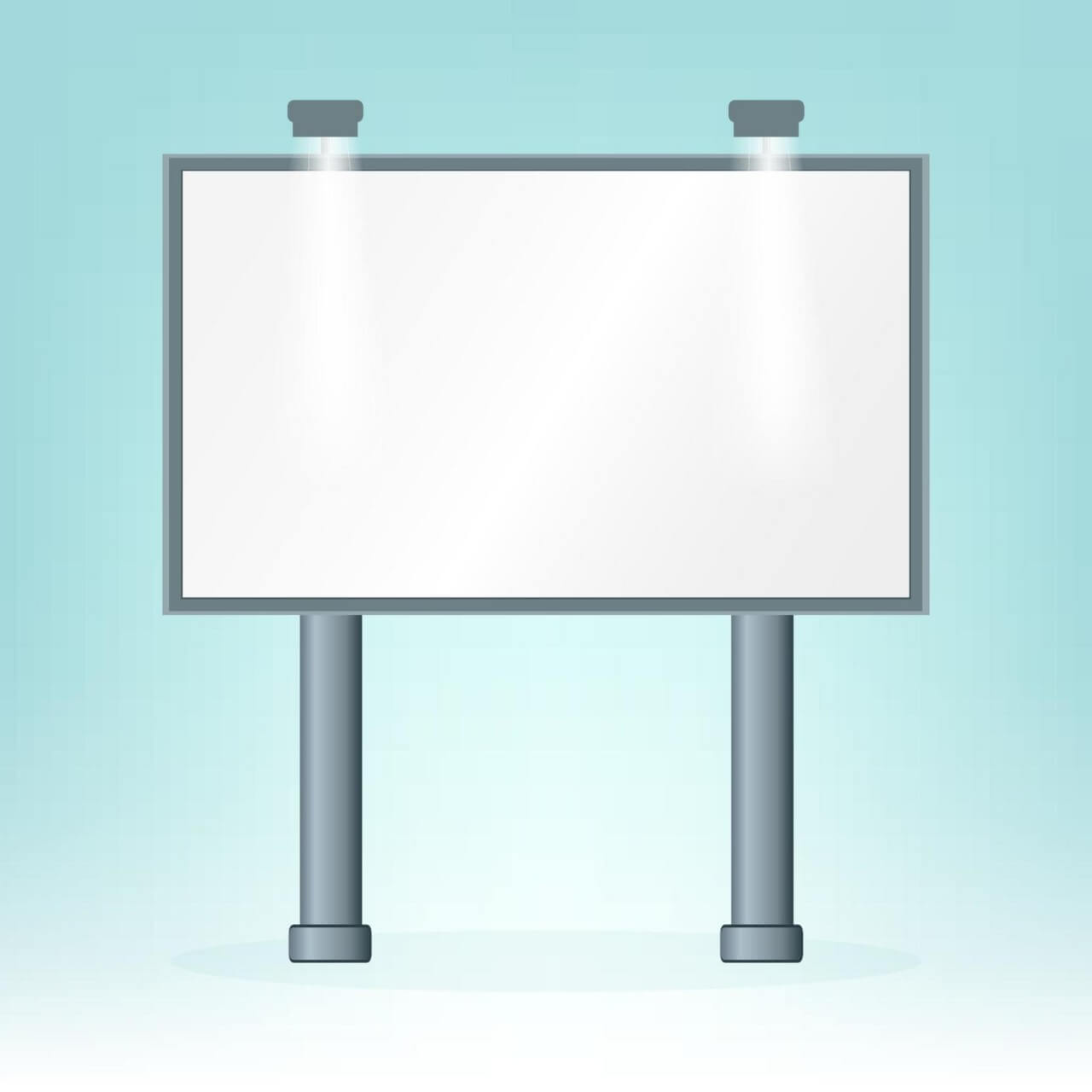 "Free vector ""Blank billboard, on blue bacground, design """