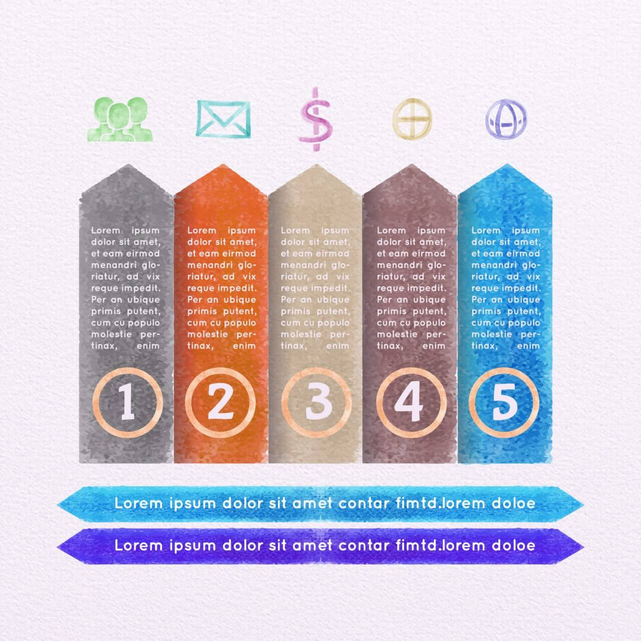 "Free vector ""Vector Watercolor Infographic Set"""