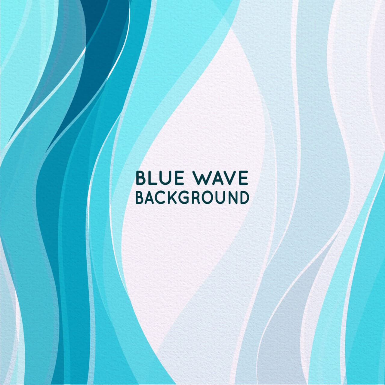 """Free vector """"Abstract Blue Wave Background"""""""
