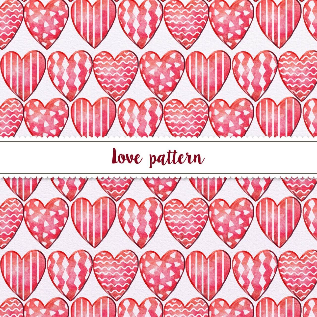 "Free vector ""Hand-drawn Doodle Seamless Pattern With Hearts"""