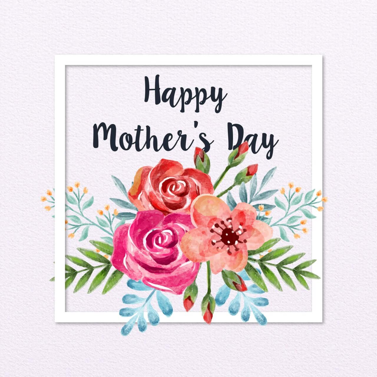 """Free vector """"Happy Mother's Day Card"""""""