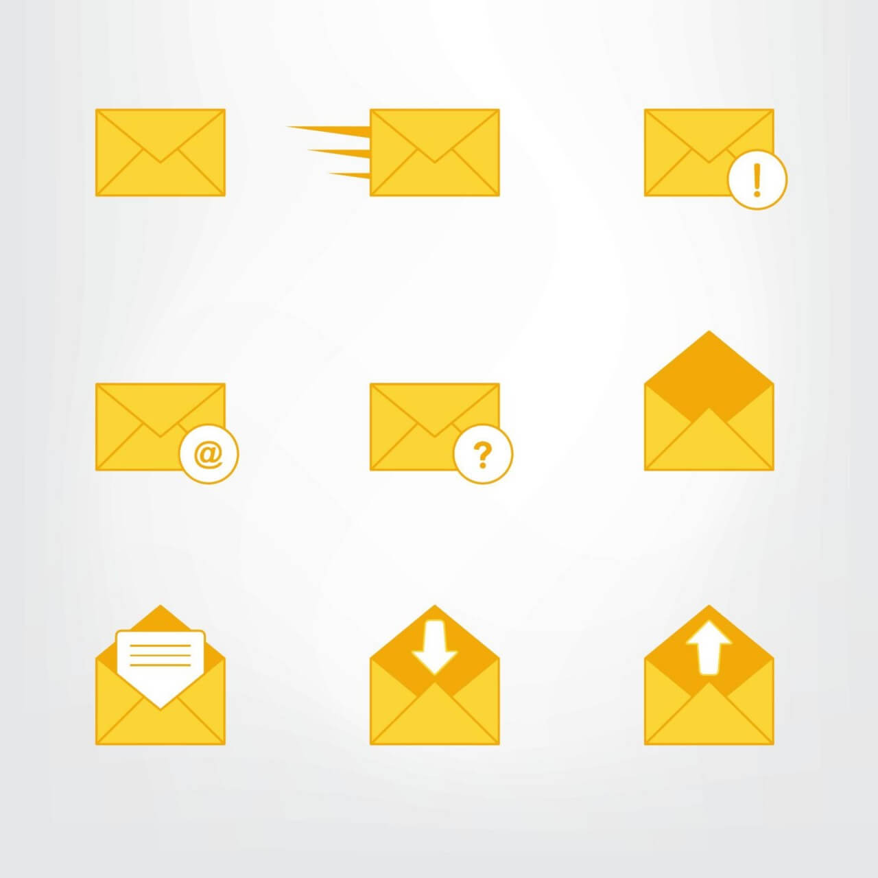 "Free vector ""Letter, mail symbols and pictograms"""