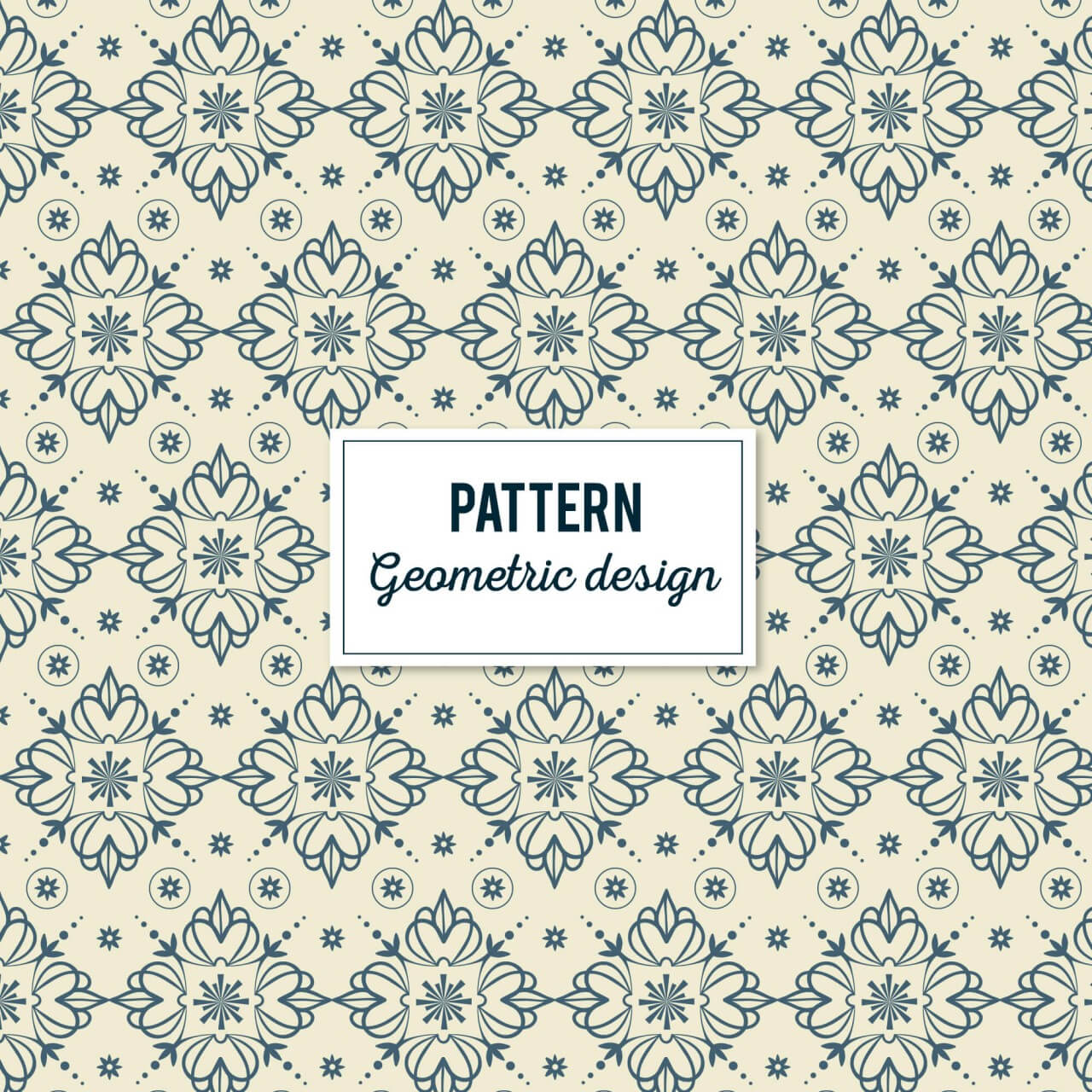"""Free vector """"Creative Floral Geometric Pattern"""""""