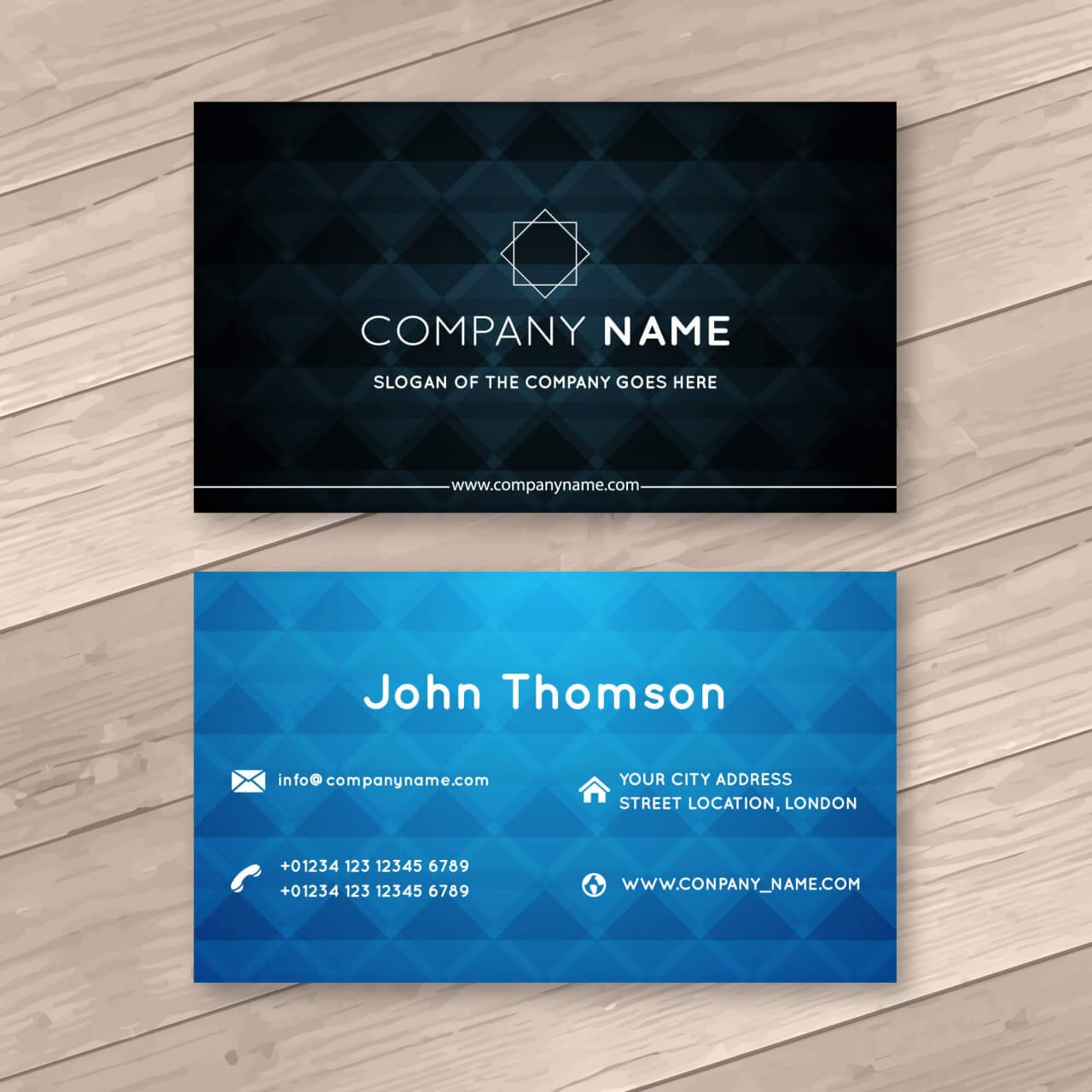 """Free vector """"Abstract business cards"""""""