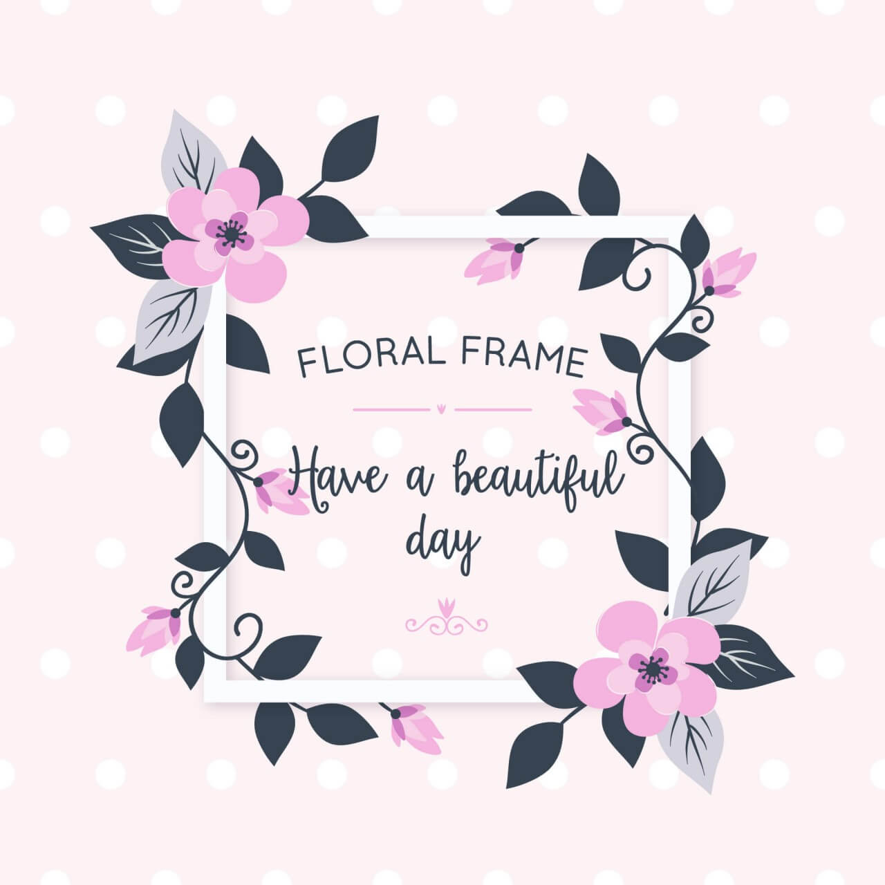 "Free vector ""Floral card with flowers"""