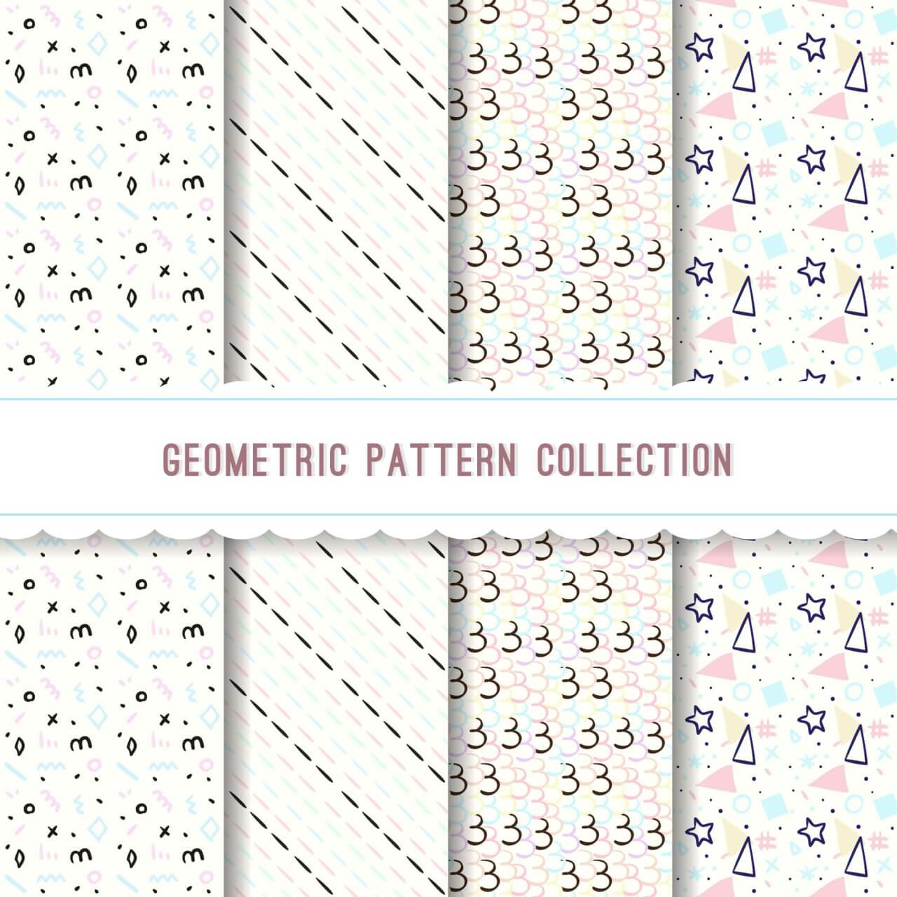 "Free vector ""Geometric pattern collection"""