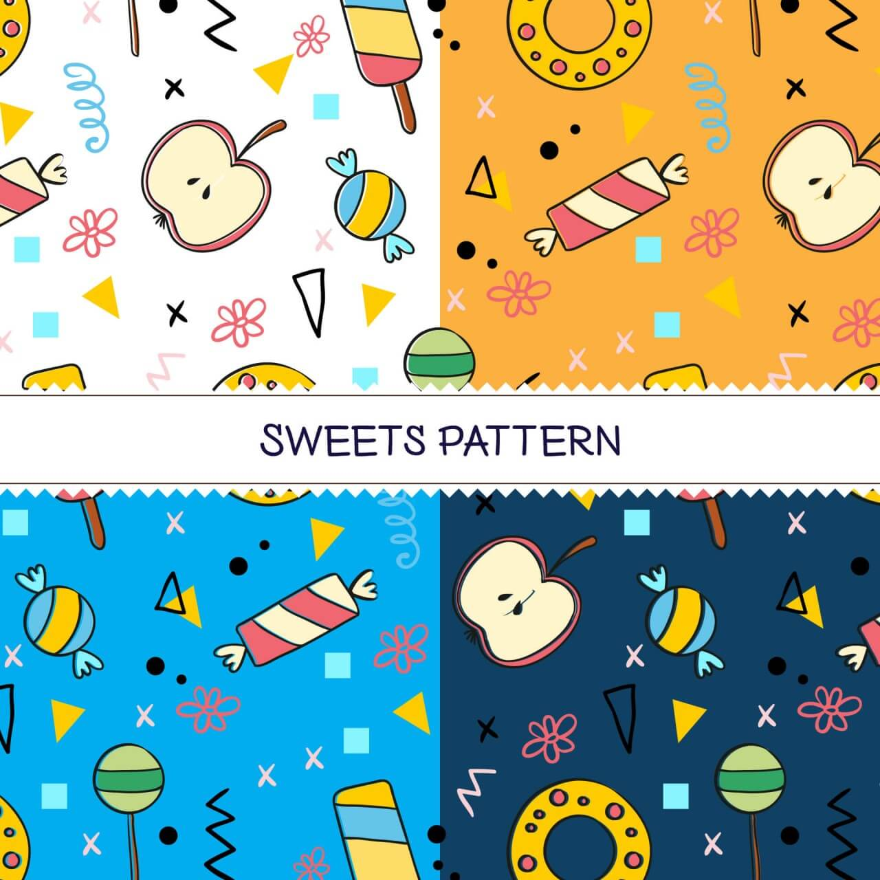 "Free vector ""Sweets pattern"""