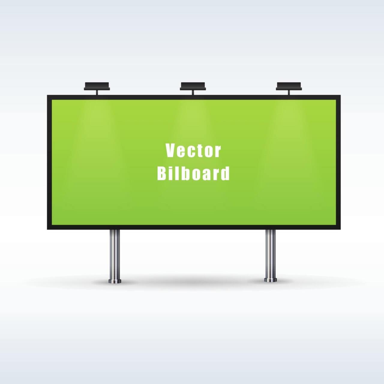 """Free vector """"Outdoor billboard advertising"""""""