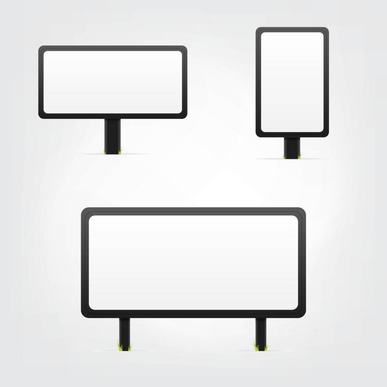 "Free vector ""White Bilboards Set"""