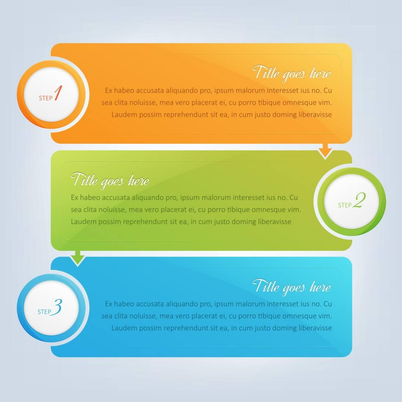"""Free vector """"Banners, infographic steps design """""""