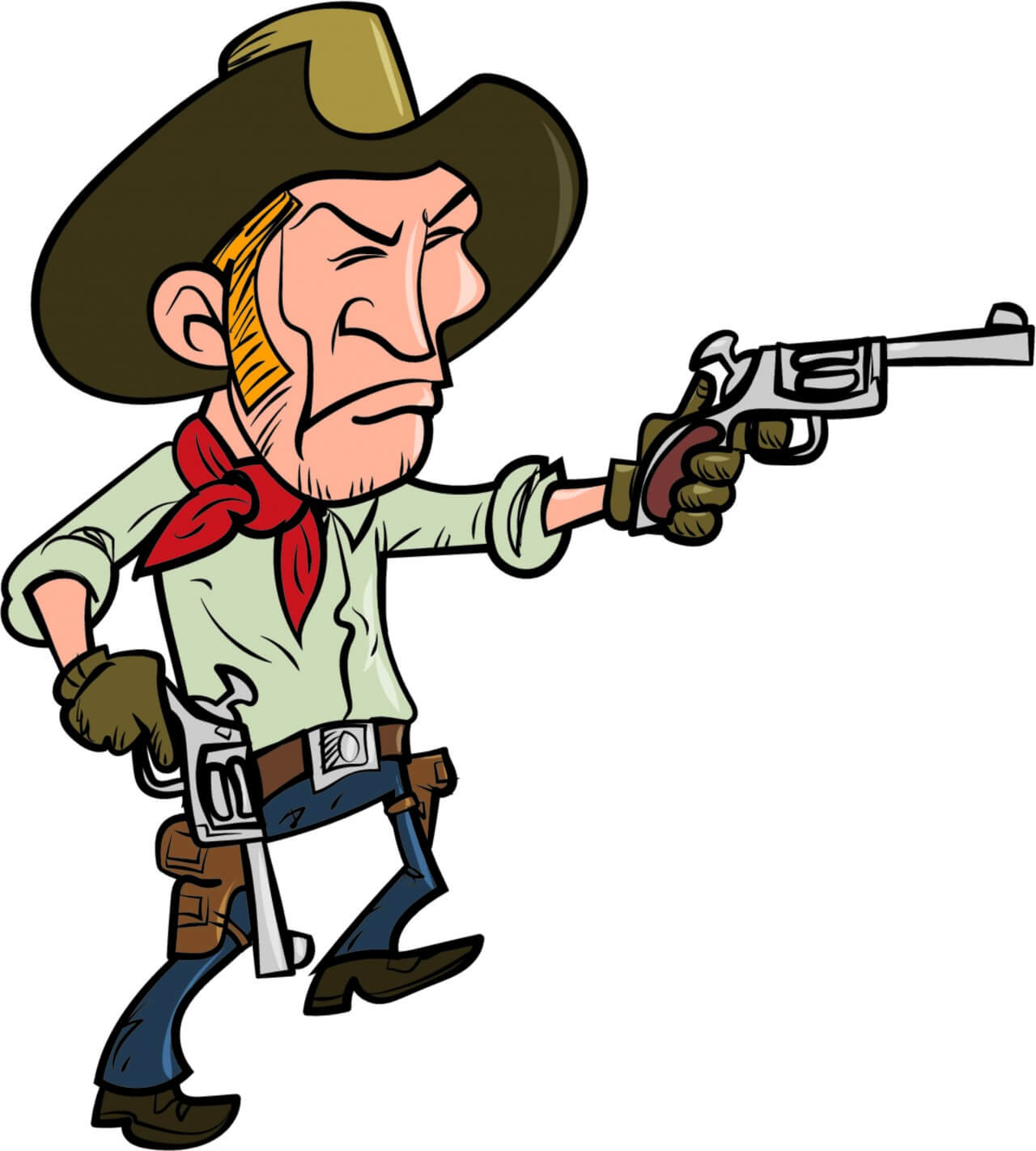 "Free vector ""Cowboy with guns"""
