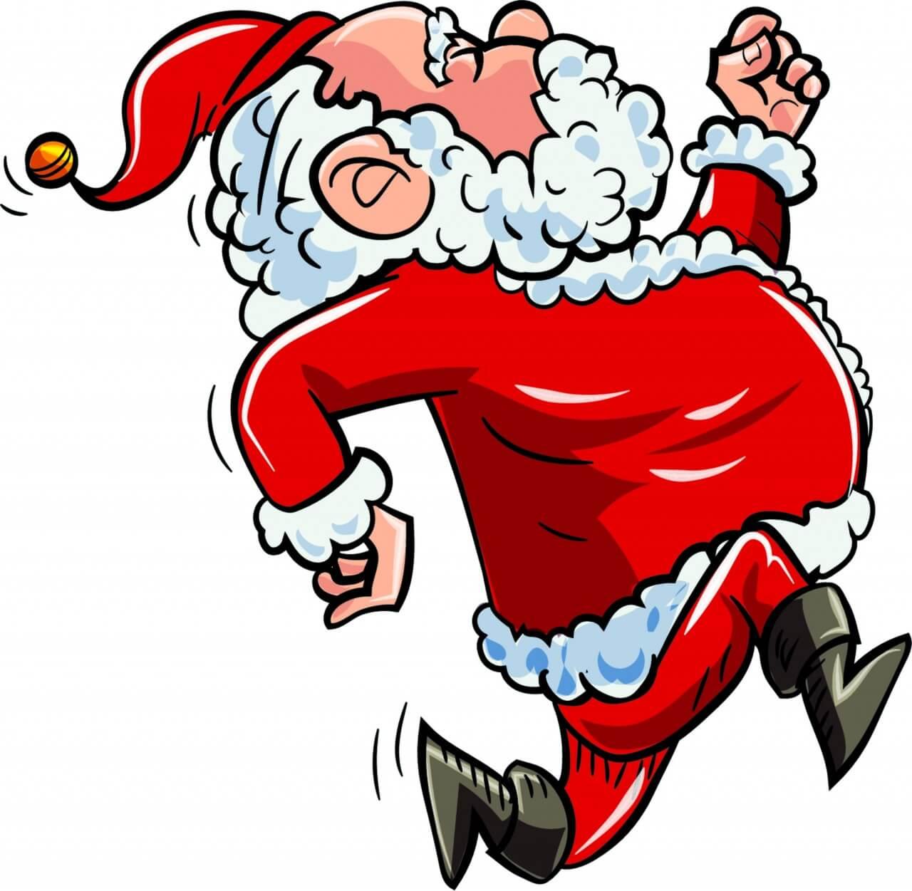 """Free vector """"Running Santa"""""""