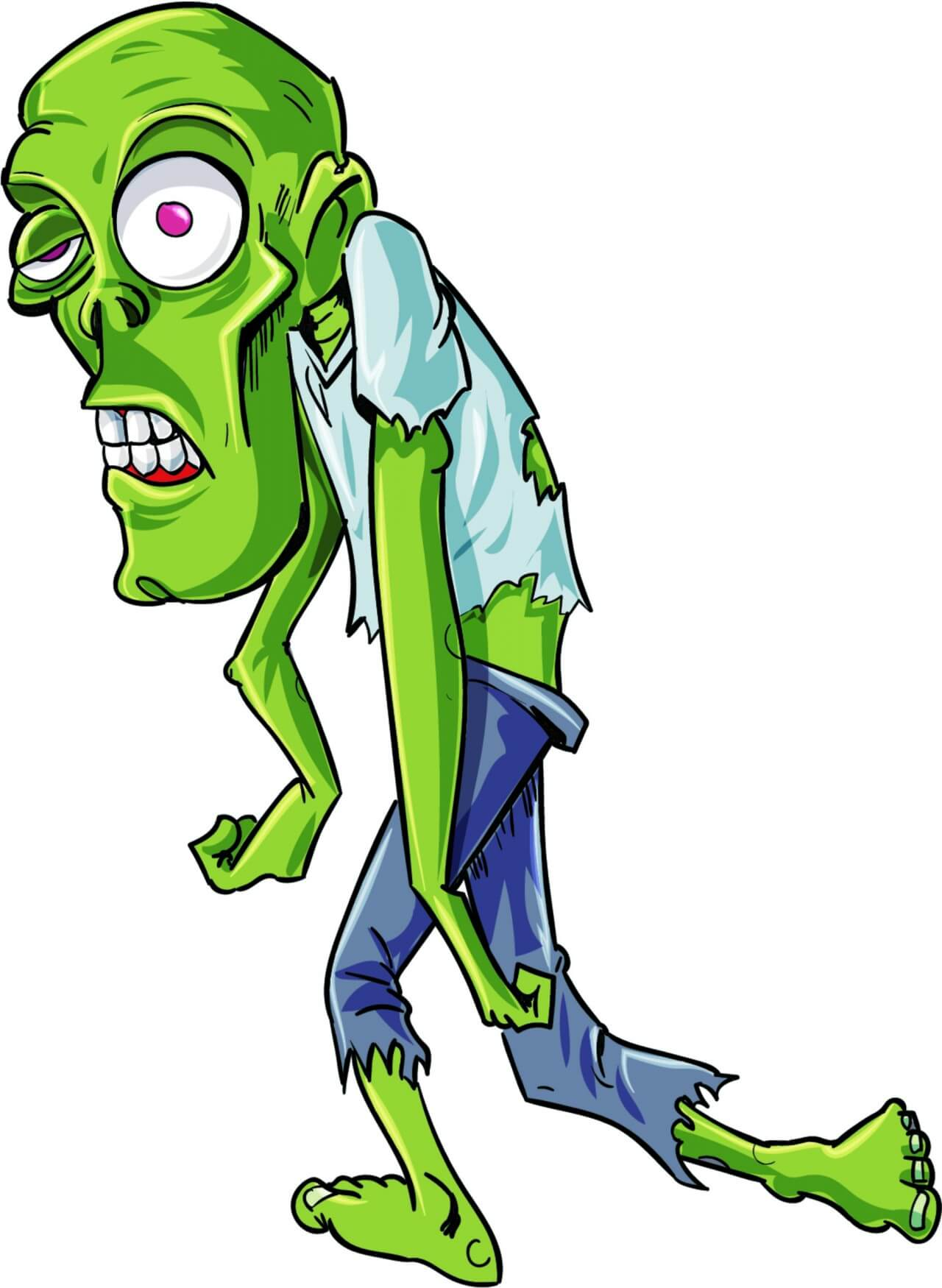"""Free vector """"Twisted zombie character"""""""