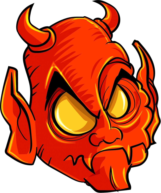 "Free vector ""Demon head"""