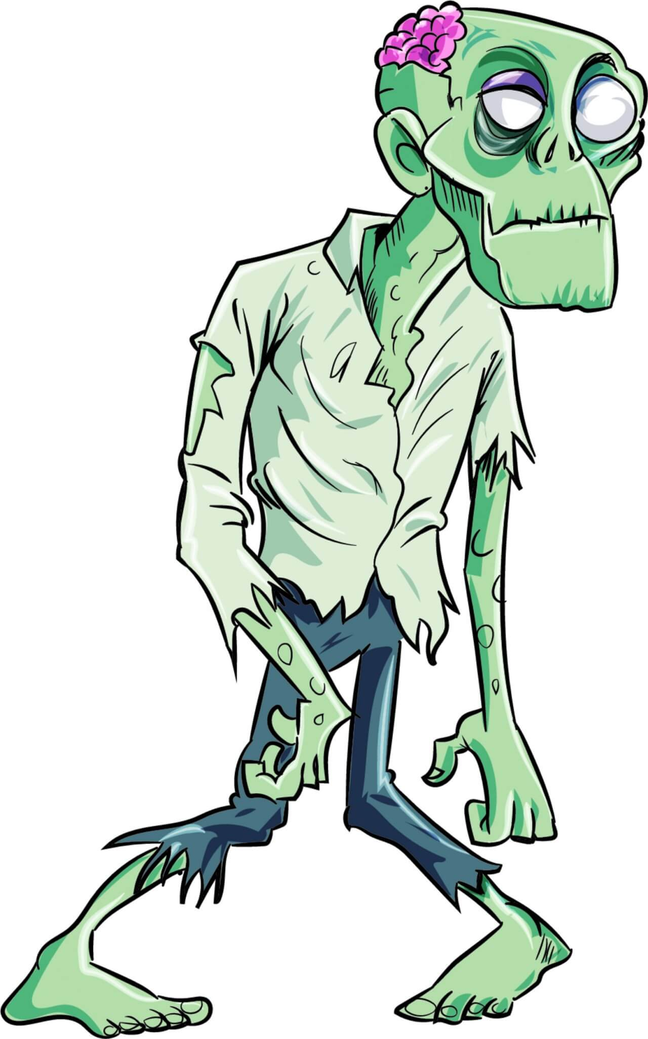 """Free vector """"Zombie caricature"""""""
