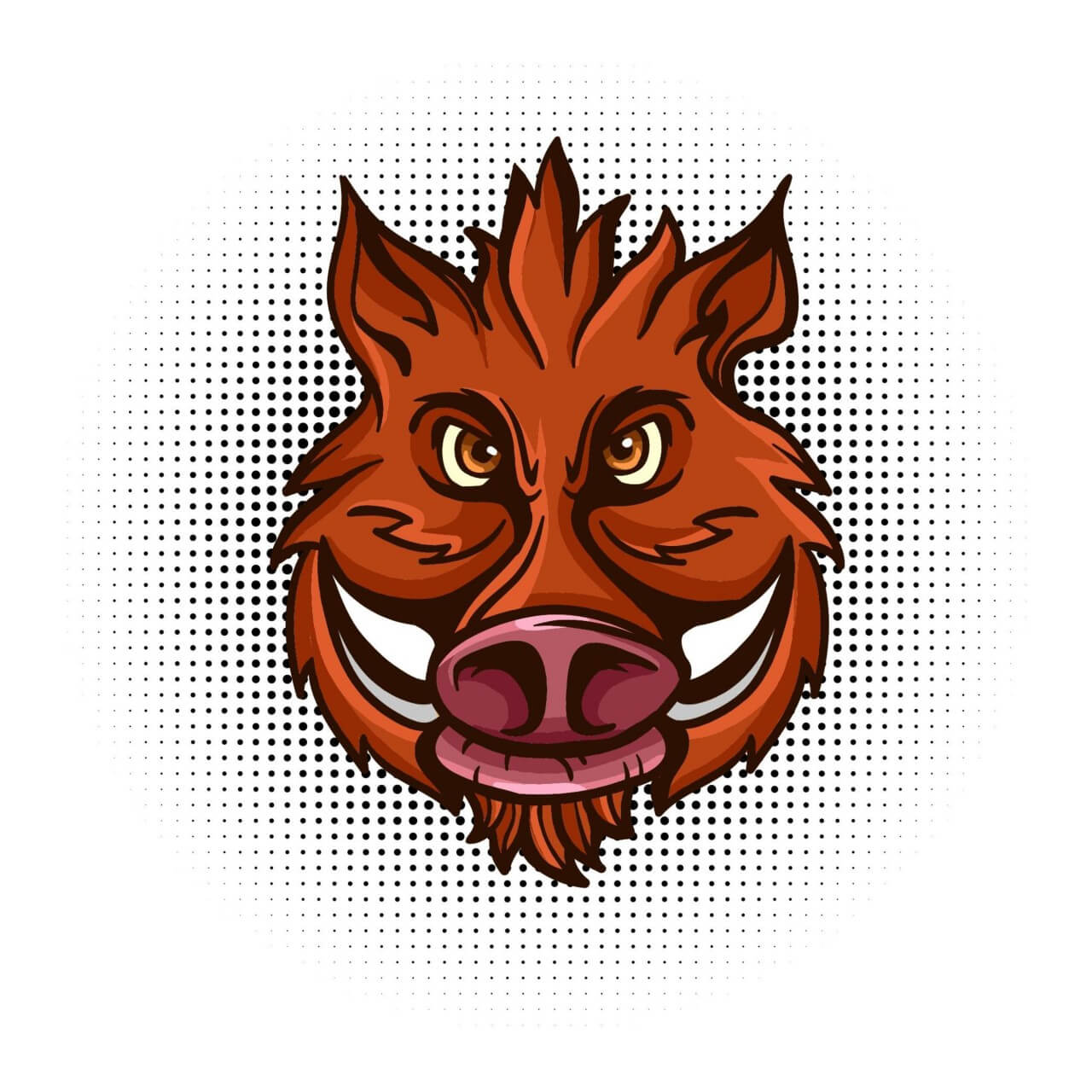 """Free vector """"Vector wild boar head """""""