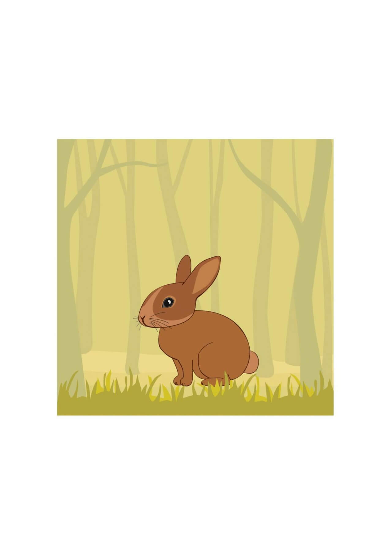 "Free vector ""Cute Rabbit In the Forest"""