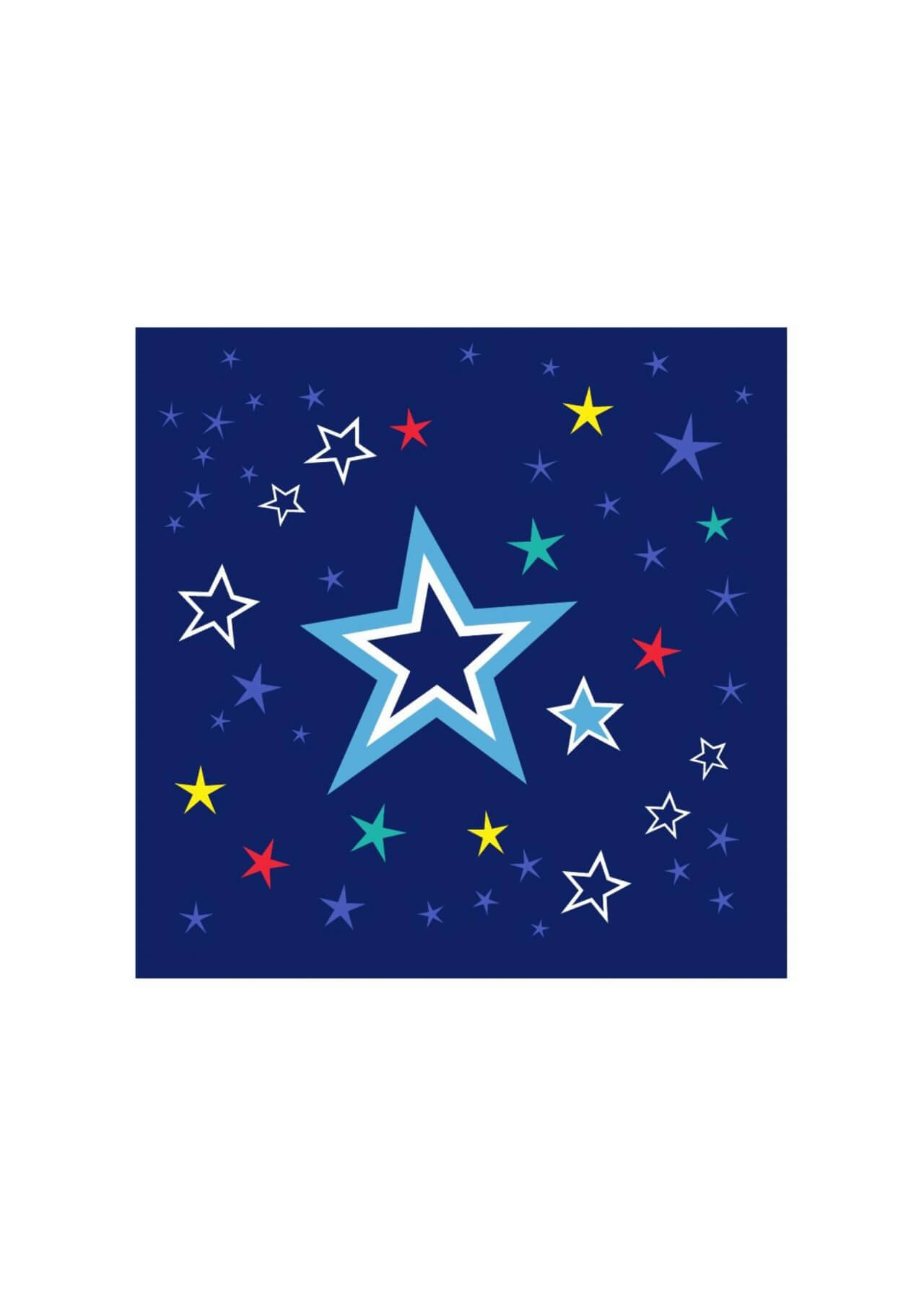 "Free vector ""Colorful stars on night sky"""