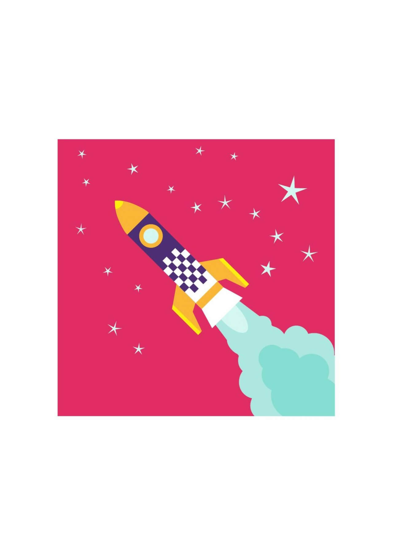 "Free vector ""Rocket flying in space with stars on background"""