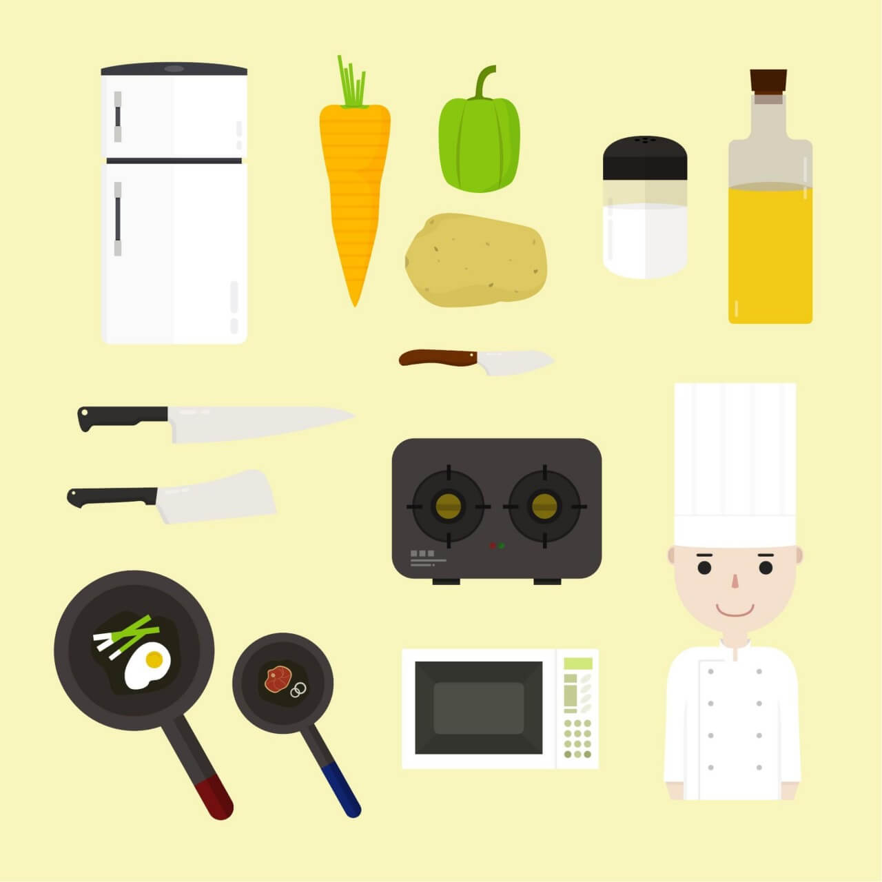 "Free vector ""Cooking icons """