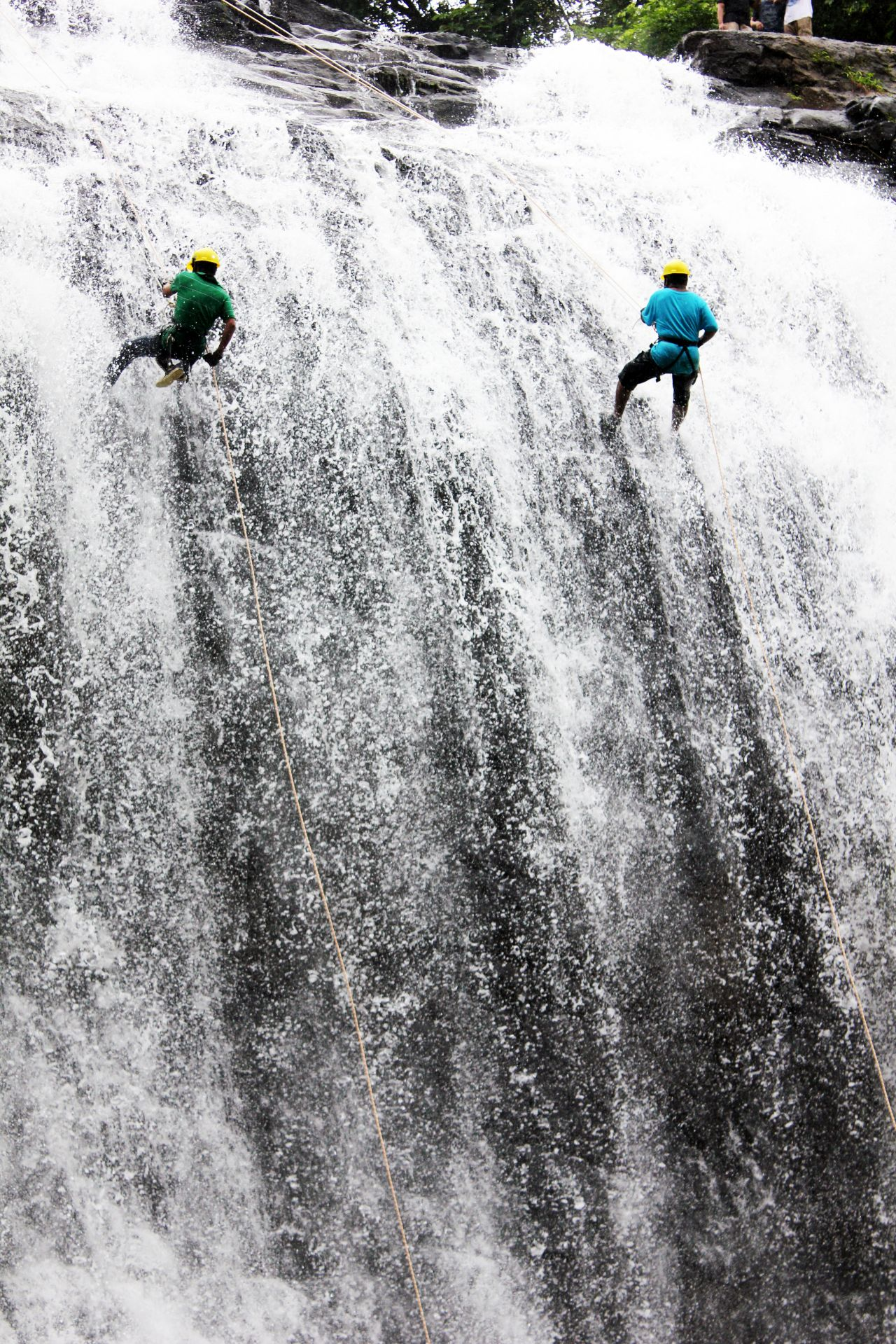 "Free photo ""Adventure Sports Waterfall Rappelling"""