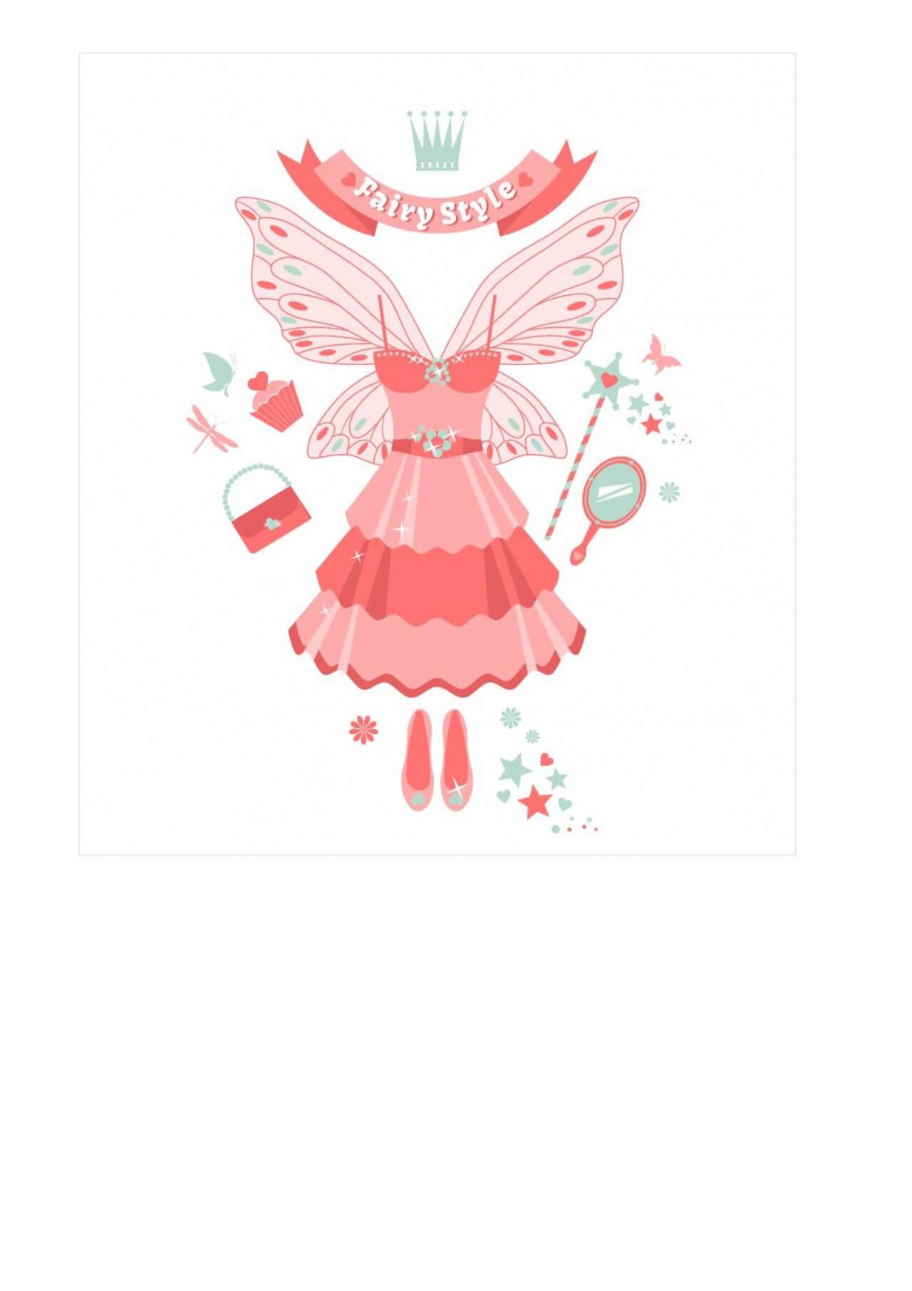 "Free vector ""Fairy set."""
