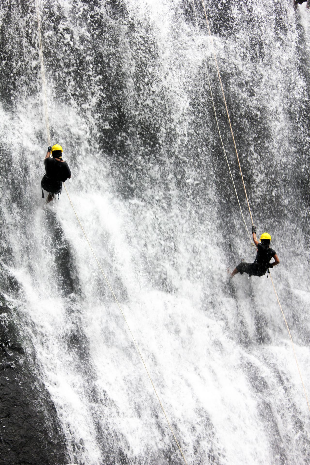 """Free photo """"Waterfall Rappelling Adventure"""""""