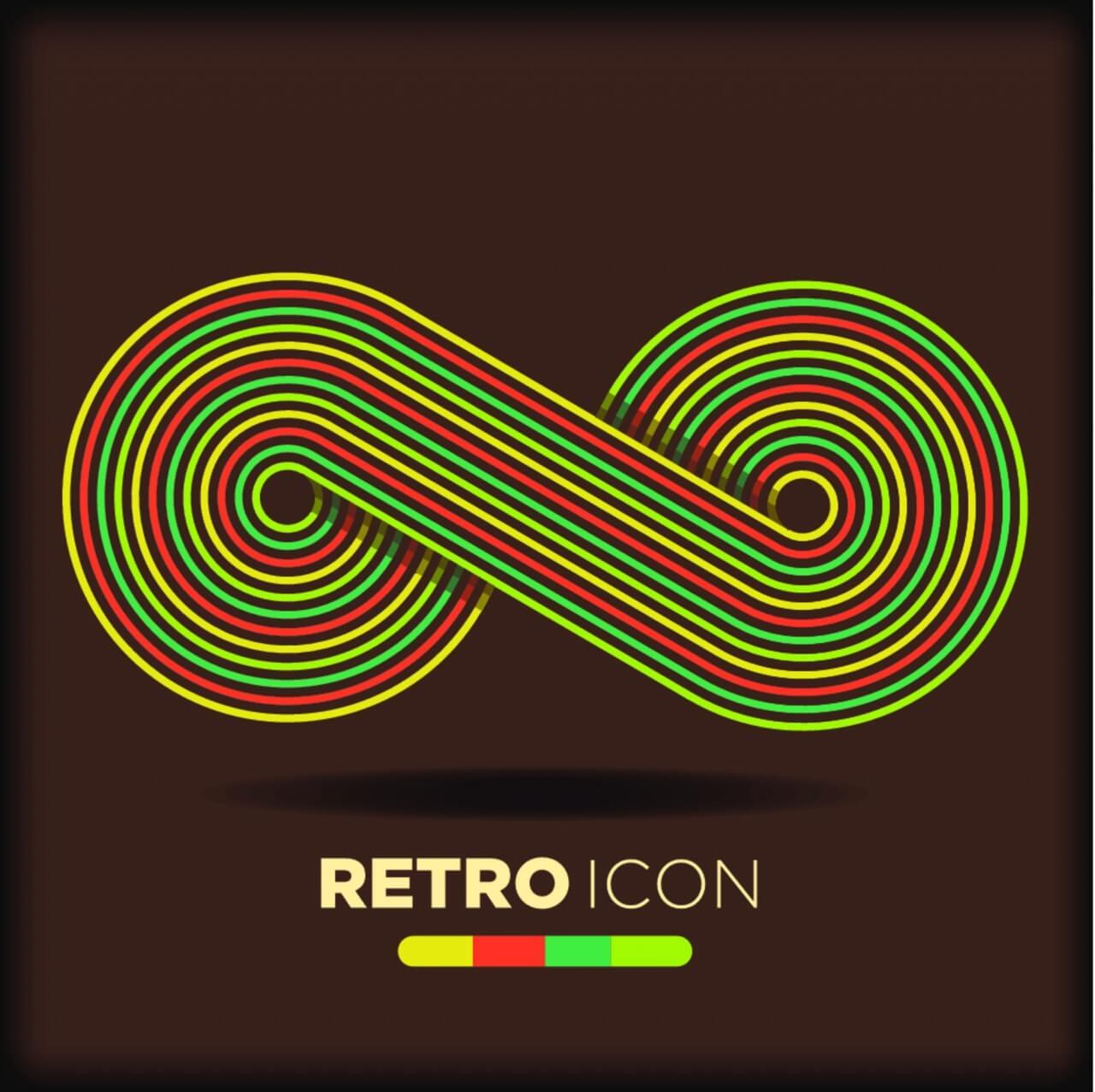 "Free vector ""Retro icon background"""