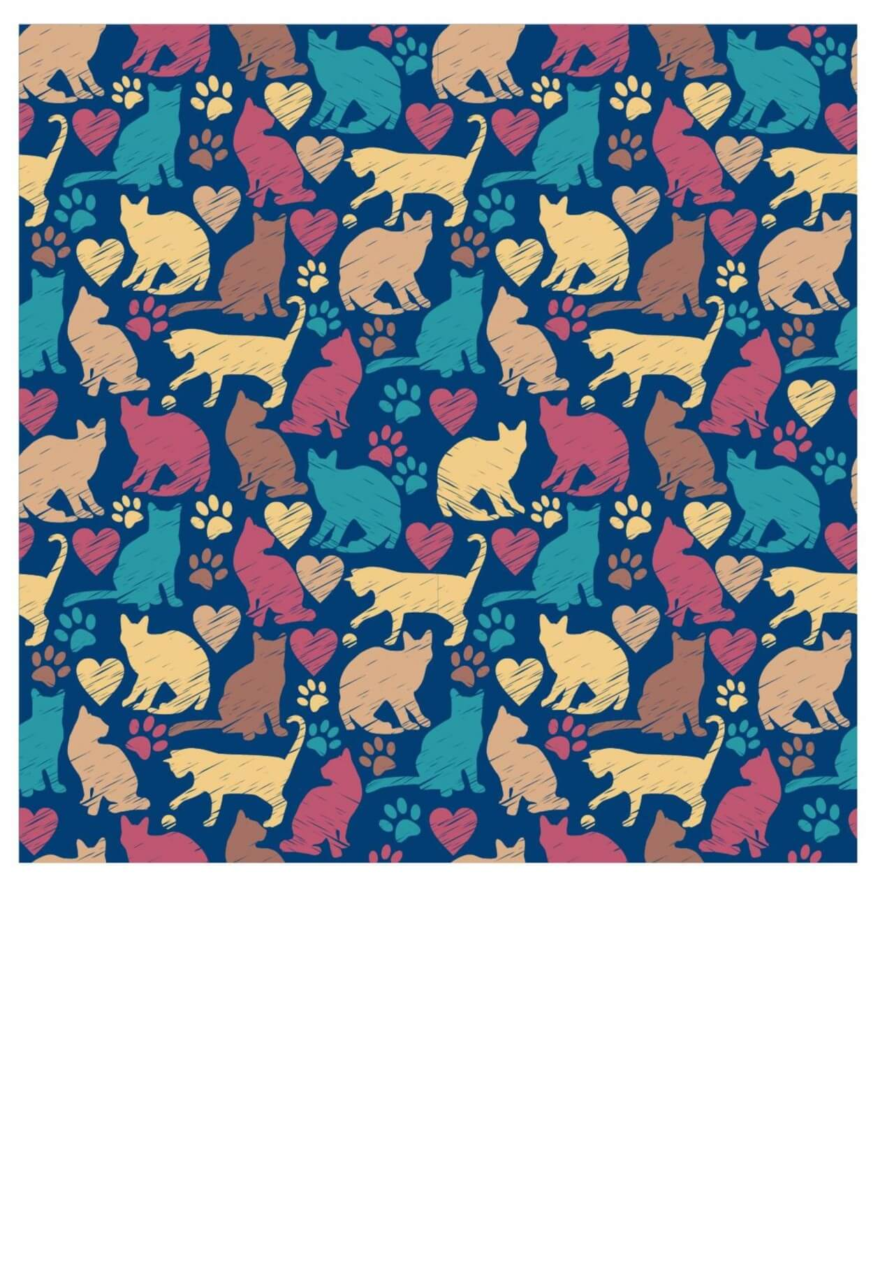 "Free vector ""Seamless pattern of cats"""