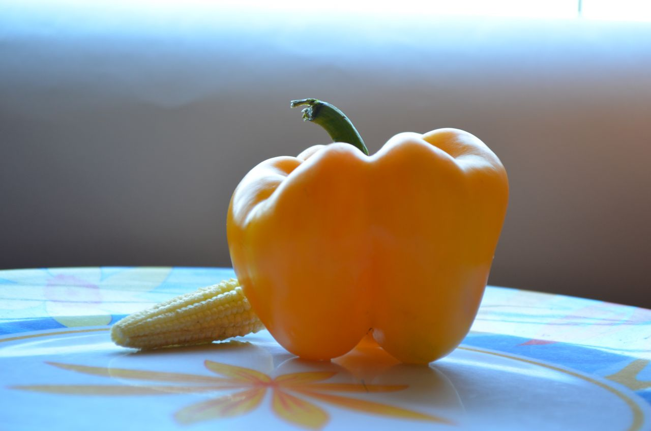 "Free photo ""Bell Pepper Baby Corn"""