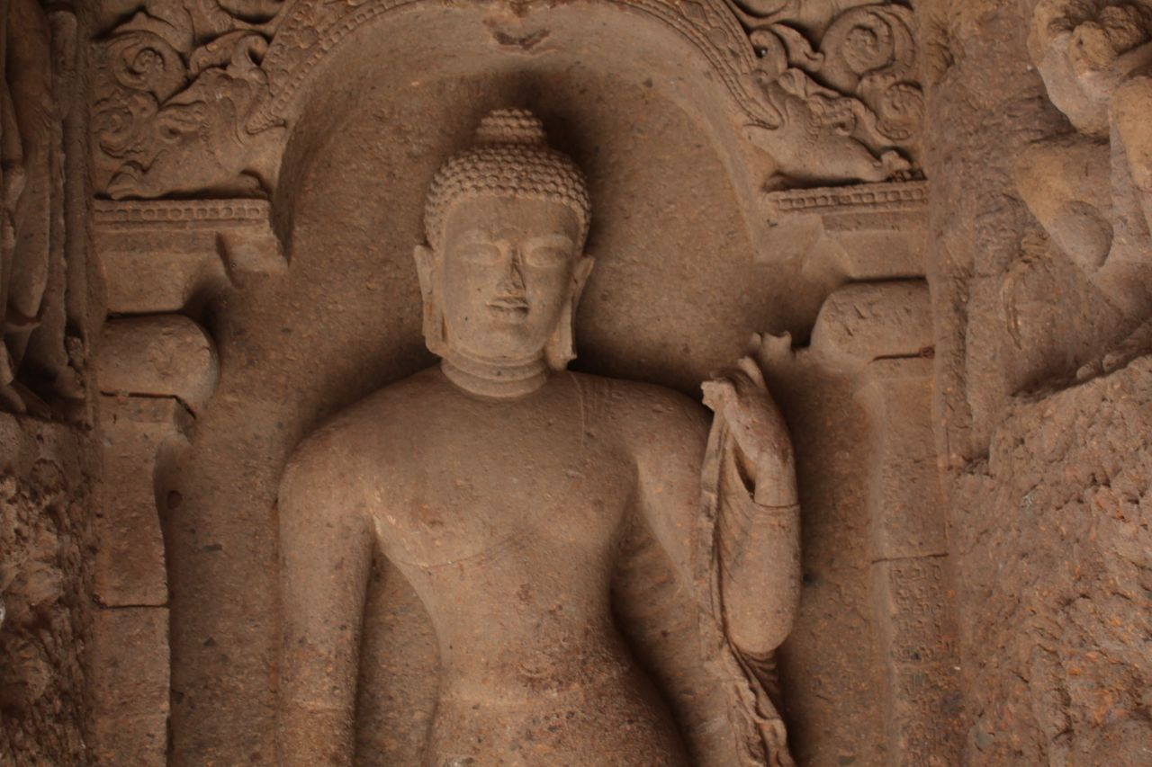 "Free photo ""Buddha Sculpture Inside Caves"""