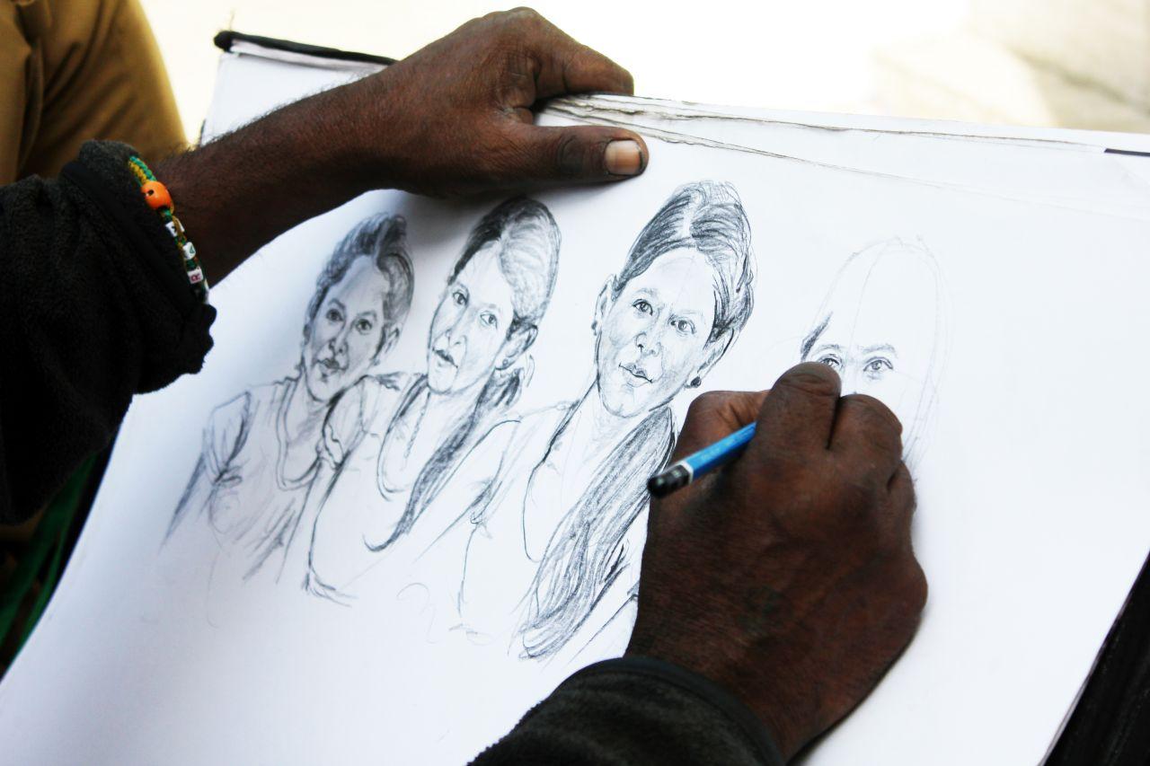 """Free photo """"Artist Sketching"""""""