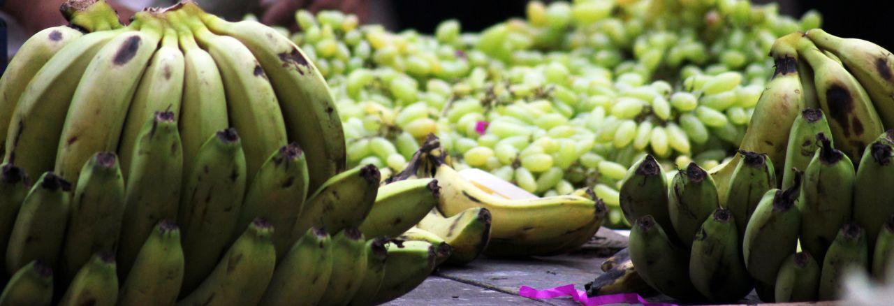 """Free photo """"Bananas Grapes"""""""