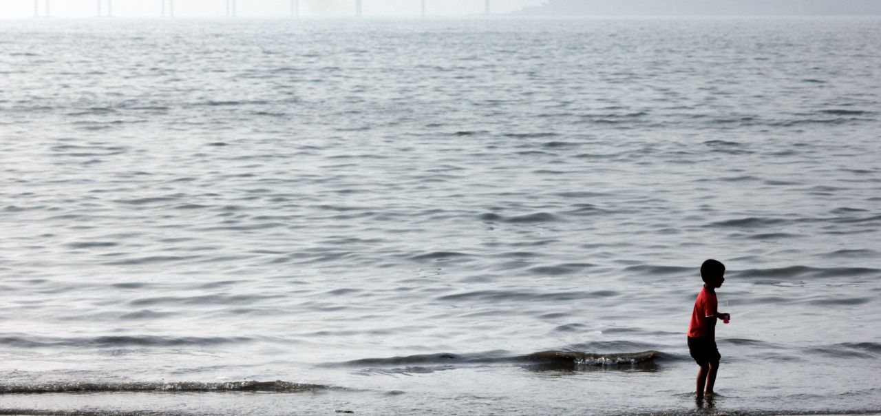 "Free photo ""Boy In Sea Water Playing"""