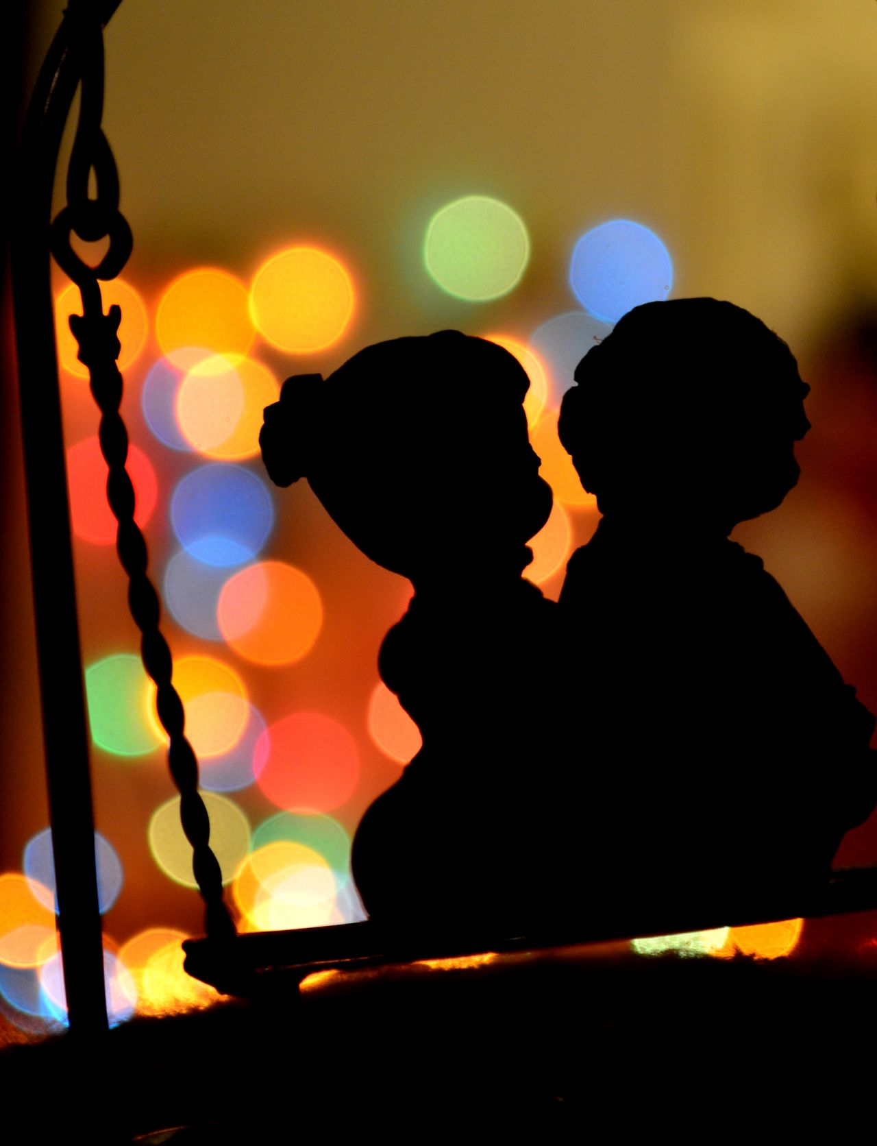 "Free photo ""Couple Silhouette"""